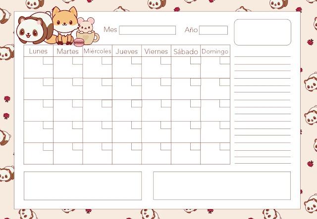 calendarios, imprimibles, imprimir, descargar, gratis, free