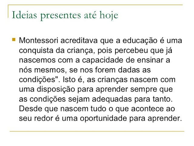 Montessori, educação e desenvolvimento