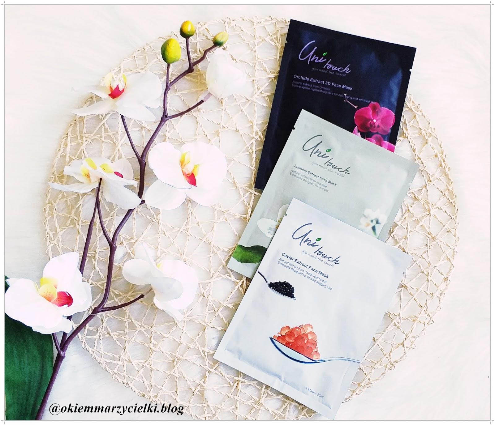 Orchidea, jaśmin czy kawior?| Maski w płachcie| Domowe SPA z marką UniTouch- recenzja #95