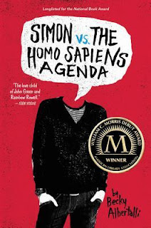 simon vs. the homo sapiens agenda by becky albertalli review cover