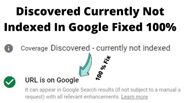 Discovered currently not indexed in Search Console