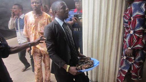 pastor carrying sacrifice