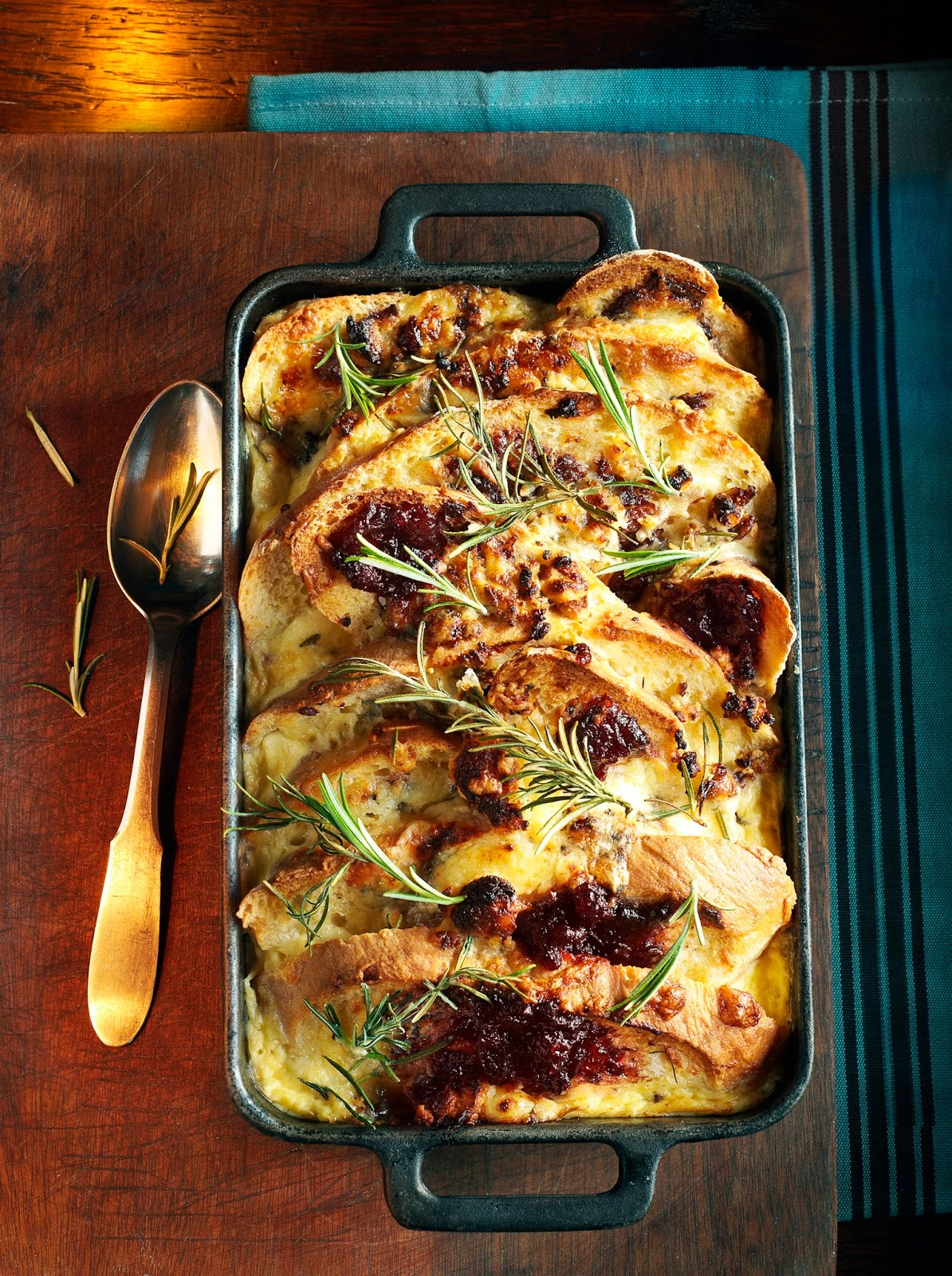 Savoury Cheese Bread & Butter Pudding