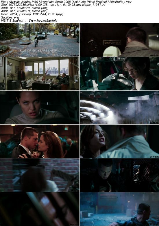 Mr and Mrs Smith 2005 Dual Audio [Hindi-English] 720p BluRay