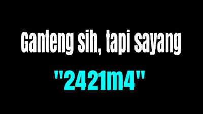 Arti '2421m4' itu adalah