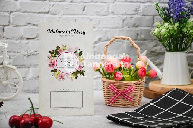 Undangan Pernikahan Murah di Tangerang dengan Tema Bunga - Walimahanid | 0812-1141-8687