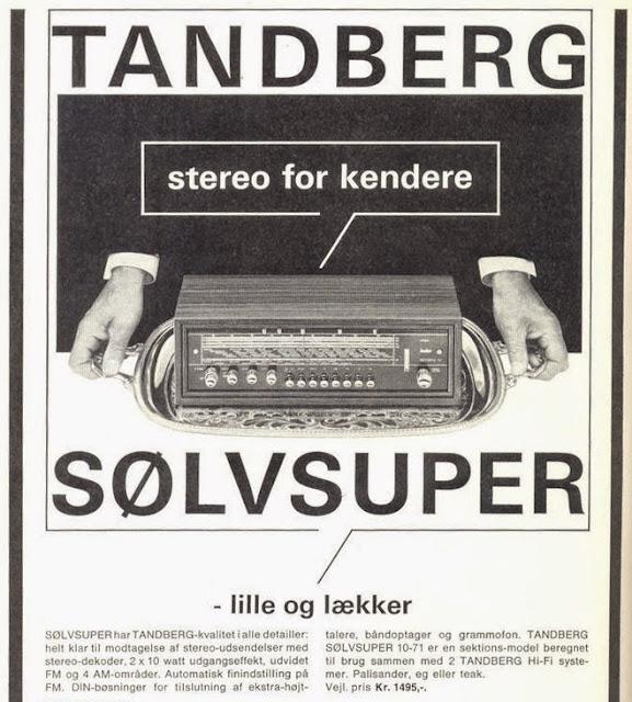 TANDBERG Sølvsuper 10, stereo for kendere