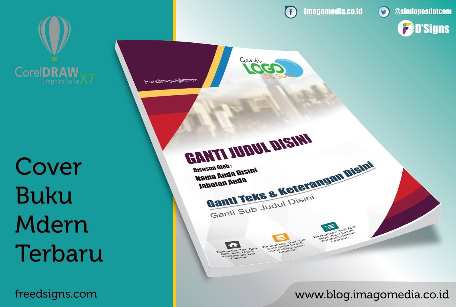Download Desain Cover Buku Corel Draw Modern Terbaru Imago Media Home Of Creativity