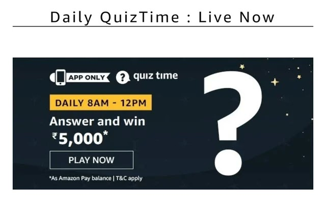 Amazon quiz 10th feb