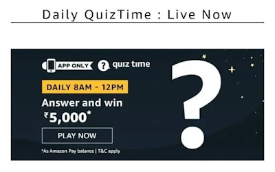 13th January Amazon Quiz Answer