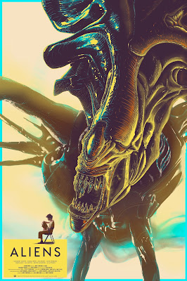 New York Comic Con 2019 Exclusive Aliens Screen Print by Cristian Eres x Grey Matter Art