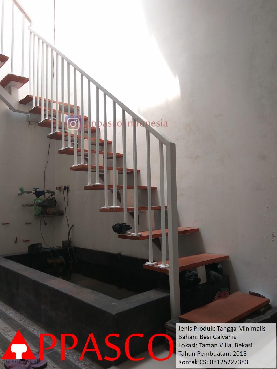 Tangga Melayang Minimalis Besi Galvanis di Bekasi