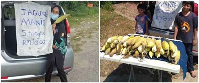Ditinggal suami, ibu hamil ini hidupi 6 anak dengan jual jagung