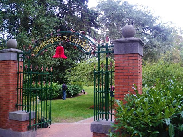entrada dos portoes verdes do jardim de shakespeare