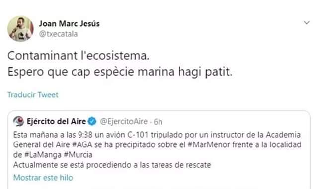 Joan Marc Jesús, ANC, fill de puta, inútil, botifler, catanazi
