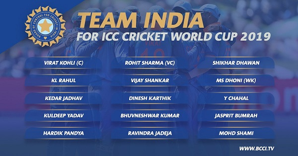 india world cup team 2019