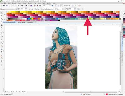 Menampilakan banyak warna / color pada Corel