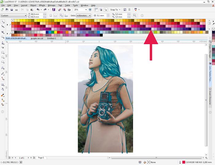 Menampilkan Banyak Warna (Color) pada CorelDraw X7