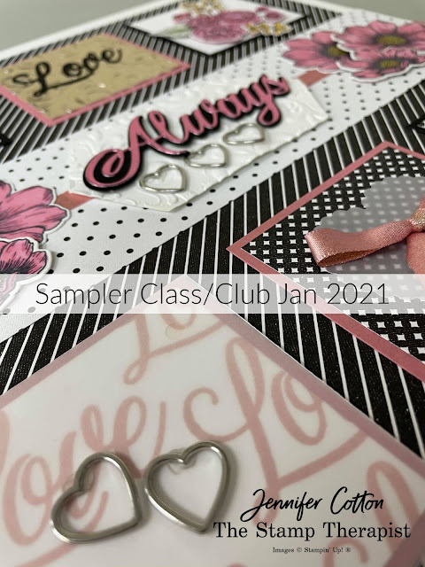 Stampin' Up!®'s Forever & Always Bundle Sampler!  Class is $28 and includes $20 in merch, all cardstock cut/punched/die cut/embossed ready to stamp and assemble with the PDF tutorial!  #StampTherapist #Stampinup RSVP by Jan 11, 2021