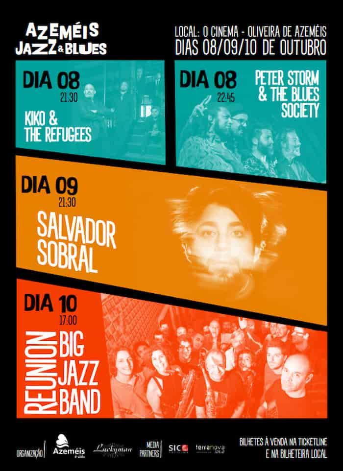 Nos dias 8, 9 e 10 de Outubro nasce um novo evento, o Azeméis Jazz & Blues, com o objetivo de colocar Oliveira de Azeméis na rota dos eventos amplamente reconhecidos pelo público destes estilos musicais.
