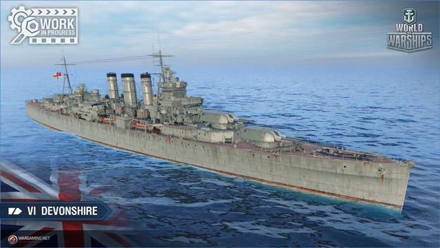 British cruiser Devonshire tier VI