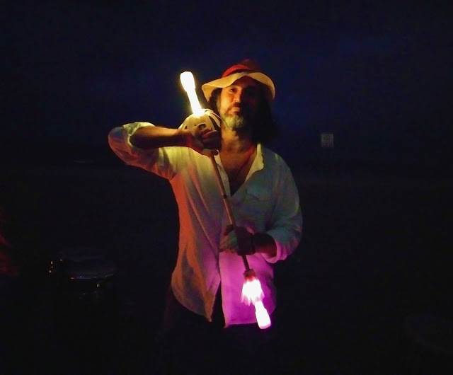 Omar Cherif at Full Lunacy Drum Circle at Dockweiler Beach in L.A, March 2018, Words I Made Up — The Eighteenth