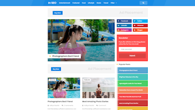 N Light Responsive and SEO Friendly Blogger Template - Design Orang