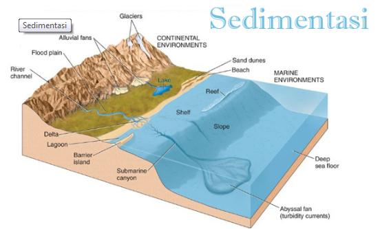 Pengertian Sedimentasi Beserta Macam - Macam dan Contoh Sedimentasi