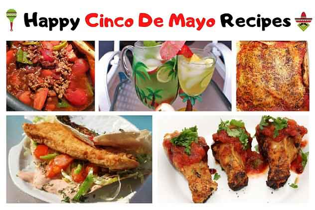 a collage of Mexican American recipes for Cinco De Mayo