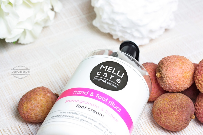 MELLI care- POMEGRANATE & LICHEE foot cream.