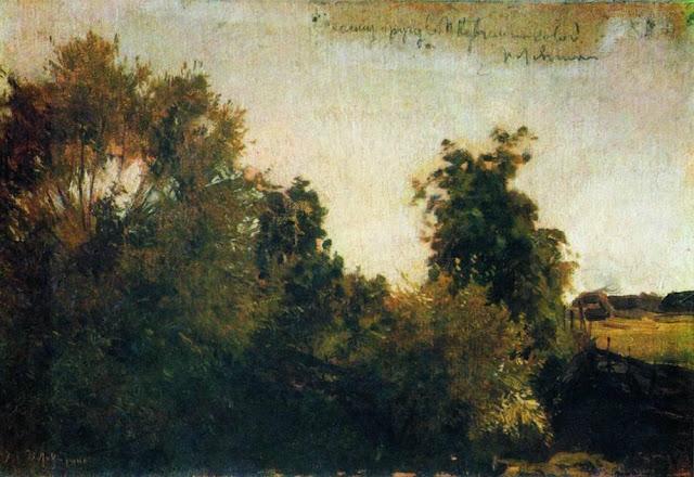 Исаак Ильич Левитан - Деревья и кусты. 1880-е