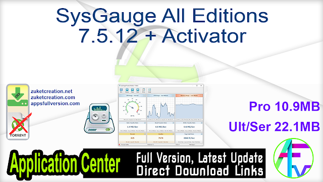 SysGauge Pro 7.5.12 + Activator