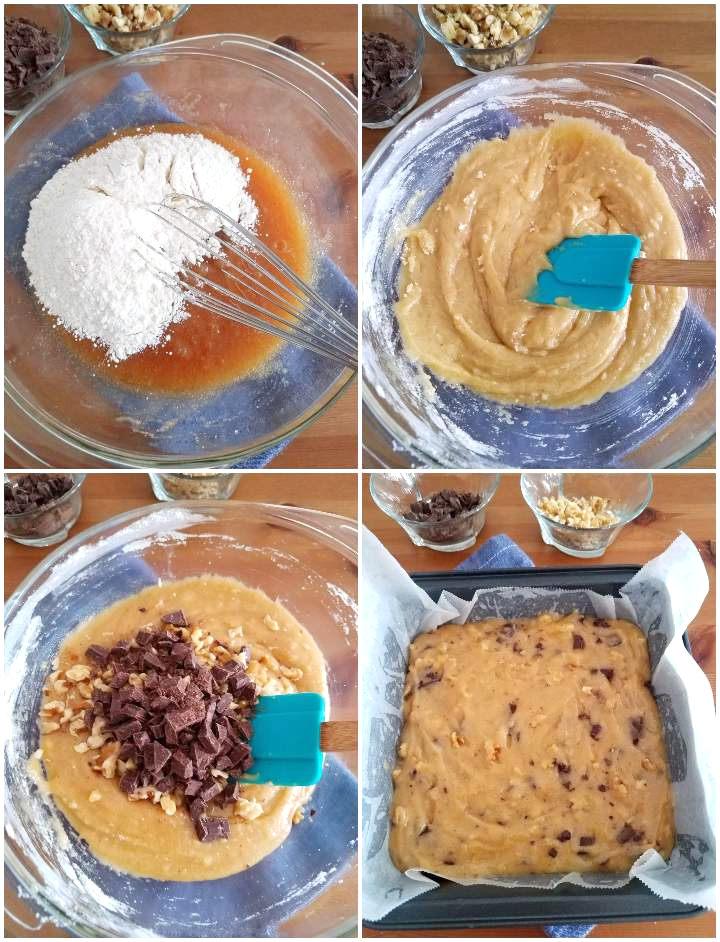 Preparación final de la mezcla de los blondies (continuación)