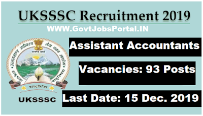 UKSSSC Assistant Accountant Recruitment 2019