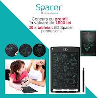 Castiga 30 de tablete Spacer pentru scris - concurs - craciun - copii - gratis - premii - castiga.net