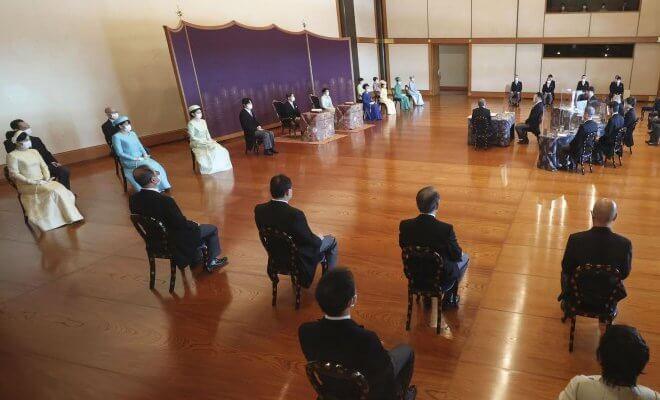 Empress Masako, Crown Prince Akishino, Crown Princess Kiko, Princess Mako and Princess Kako