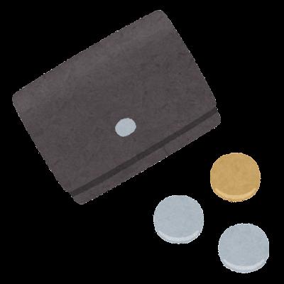 小型の財布のイラスト