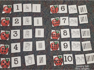 Number Puzzles: September Math Centers