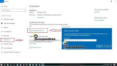 cara aktivasi windows 10 all version dengan digital lisensi