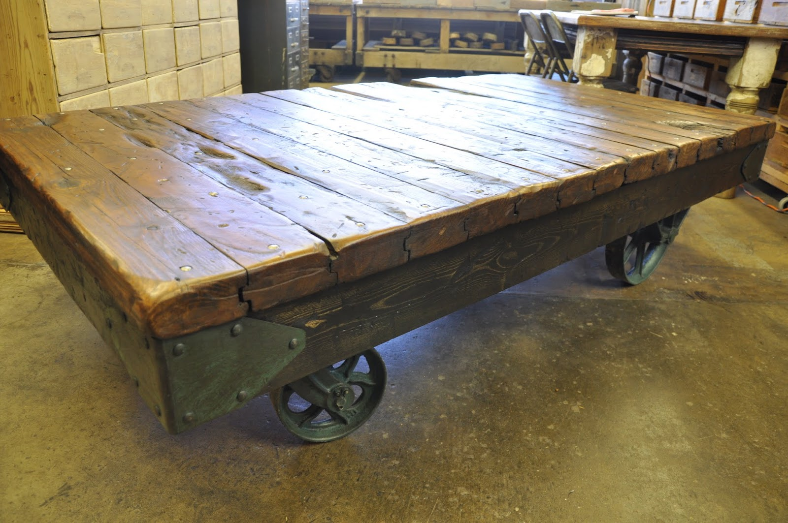 Oklahoma Barn Market: Industrial Cart Coffee Table