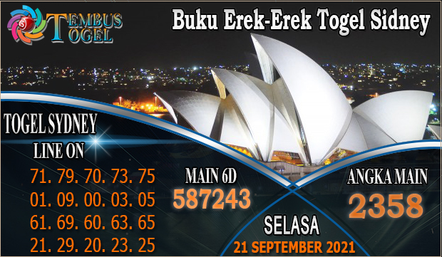 Buku Erek-Erek Togel Sidney, Selasa 21 September 2021 Tembus Togel