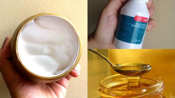 hidratacao com mel e glicerina low poo