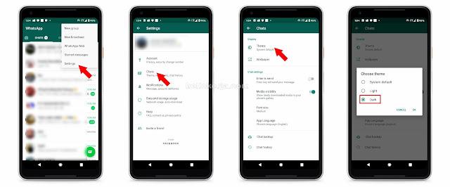 Cara Tukar Whatsapp kepada Dark Mode Dengan Pantas