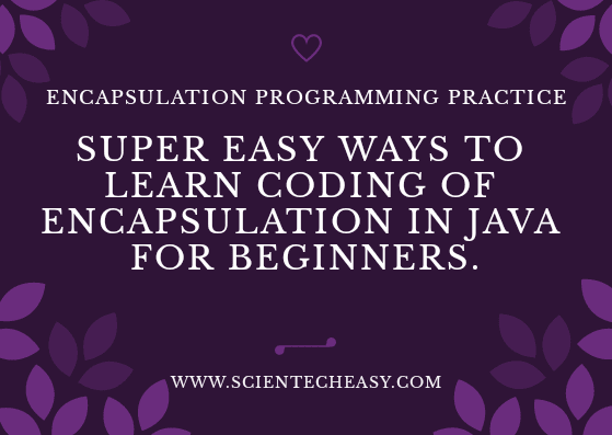 OMG! The Best Programming practice for Encapsulation Ever