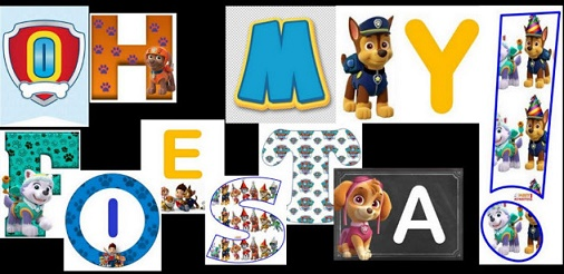 Paw Patrol Free Alphabets