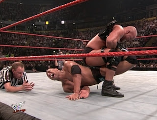 WWE / WWF Rebellion 2001 - Steve Austin puts The Rock in a Boston crab