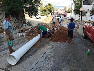Concluye Capama rehabilitación sanitaria en avenida Flamingos