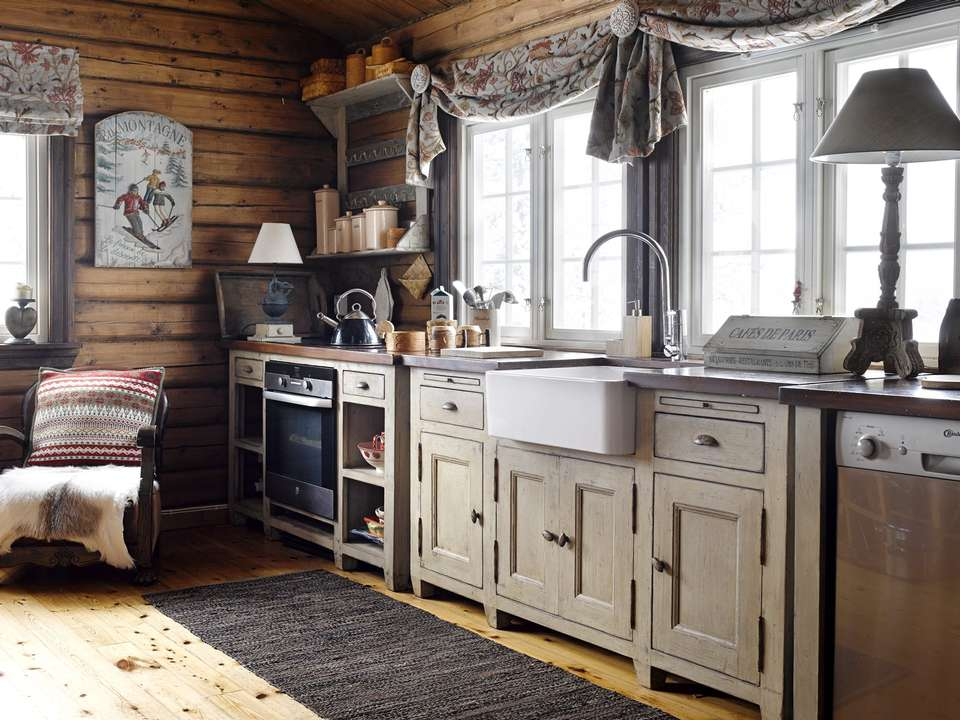 Norwegian Kitchens. Luxury Norwegian Holiday Log Cabin Kitchen By ...