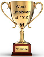 "The 16th nominee for the ""worst employer of 2019"" is … the shameful wall builder"