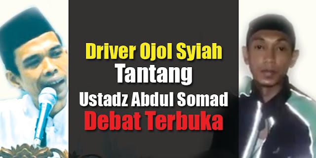 Heboh, Tak Terima Syiah Disebut Sesat, Driver Ojol Bikin Video Tantang Ustadz Abdul Somad Debat Terbuka....